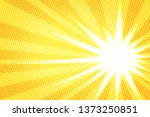 white sun yellow pop art... | Shutterstock . vector #1373250851