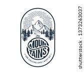 mountains emblem  badge.... | Shutterstock .eps vector #1373263037
