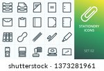 stationery icons set. set of... | Shutterstock .eps vector #1373281961
