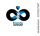 friends forever  everlasting...   Shutterstock .eps vector #1373317187
