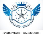 heraldic sign made with vector... | Shutterstock .eps vector #1373320001