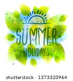 summer type composition drawn... | Shutterstock .eps vector #1373320964