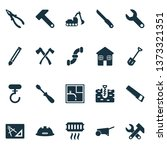 industrial icons set with boer  ... | Shutterstock .eps vector #1373321351