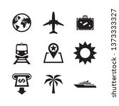travel vacation icons set.... | Shutterstock .eps vector #1373333327
