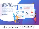 business people working on...   Shutterstock .eps vector #1373358101