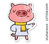 distressed sticker of a cartoon ... | Shutterstock . vector #1373361644