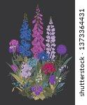 lovely garden. flowerbed....   Shutterstock .eps vector #1373364431