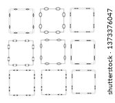 set of vector vintage frames on ... | Shutterstock .eps vector #1373376047