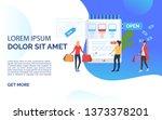 sale slide template blue...   Shutterstock .eps vector #1373378201