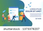 green sale slide template... | Shutterstock .eps vector #1373378207