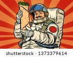 mustachioed astronaut with... | Shutterstock . vector #1373379614