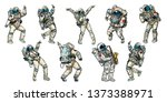 Set Of Dancing Astronauts...