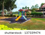children playground equipment | Shutterstock . vector #137339474