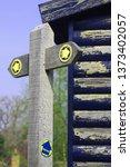 footpath sign  kent  england | Shutterstock . vector #1373402057