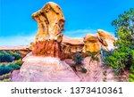 sandstones in red rock canyon... | Shutterstock . vector #1373410361