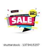sale banner layout design ... | Shutterstock .eps vector #1373415257