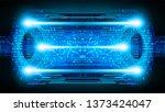 binary circuit board future...   Shutterstock .eps vector #1373424047