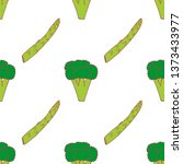 broccoli and asparagus seamless ... | Shutterstock .eps vector #1373433977