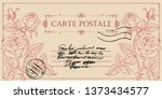vintage greeting card or... | Shutterstock .eps vector #1373434577