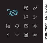 kitchenware icons set. bowl and ... | Shutterstock .eps vector #1373437961