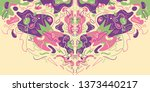 psychedelic abstract background ... | Shutterstock .eps vector #1373440217