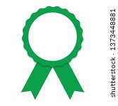 green blank badge seal with...   Shutterstock .eps vector #1373448881