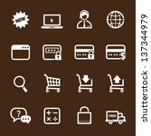 shopping online icons with...