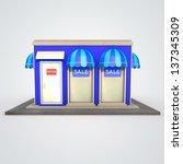 icon of the facade of a shop... | Shutterstock . vector #137345309