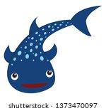 blue smiling zebra shark with...   Shutterstock .eps vector #1373470097