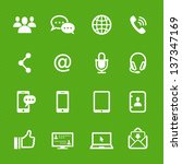 communication icons with green... | Shutterstock .eps vector #137347169