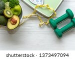 diet and healthy life loss...   Shutterstock . vector #1373497094