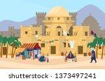 vector illustration of middle... | Shutterstock .eps vector #1373497241