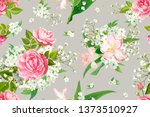 trendy floral seamless pattern... | Shutterstock .eps vector #1373510927