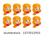 set emotions. facial expression.... | Shutterstock .eps vector #1373512931