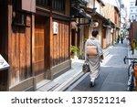 kyoto  japan   june 12  2017  a ...   Shutterstock . vector #1373521214