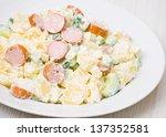 Salad Made Of Potato  Cucumber...