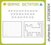 graphic dictation. cat.... | Shutterstock .eps vector #1373528324