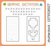 Graphic dictation. Flower. Kindergarten educational game for kids. Preschool worksheet for practicing motor skills. Working pages for children. Vector illustration