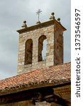 tower of a church of atienza ...   Shutterstock . vector #1373546597