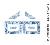 3d glasses word cloud. tag... | Shutterstock .eps vector #1373571341