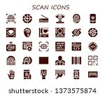 scan icon set. 30 filled scan... | Shutterstock .eps vector #1373575874