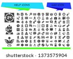 help icon set. 120 filled help... | Shutterstock .eps vector #1373575904