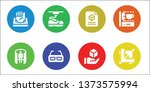 3d icon set. 8 filled 3d icons. ... | Shutterstock .eps vector #1373575994