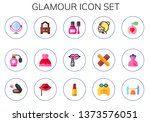 glamour icon set. 15 flat... | Shutterstock .eps vector #1373576051