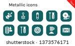 metallic icon set. 10 filled...   Shutterstock .eps vector #1373576171