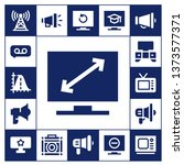 broadcasting icon set. 17... | Shutterstock .eps vector #1373577371