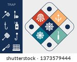 trap icon set. 13 filled trap... | Shutterstock .eps vector #1373579444