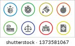 precision icon set. 8 filled... | Shutterstock .eps vector #1373581067