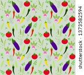 fresh vegetables seamless... | Shutterstock .eps vector #1373582594