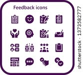 feedback icon set. 16 filled... | Shutterstock .eps vector #1373582777